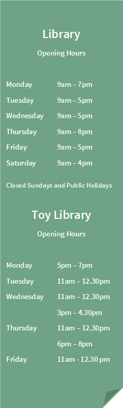 Library and Toy Opening Hours