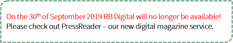 RB Digital no longer available